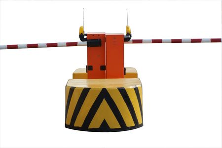 automatic barrier on the road Stock Photo - 3612349