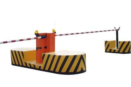 automatic barrier on the road