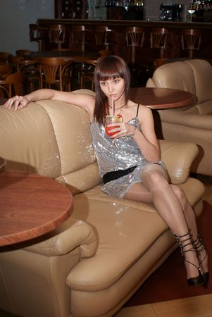 Woman with cocktail Stock Photo - 3629593