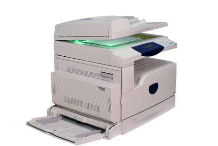 Multifunction printer isolated on white