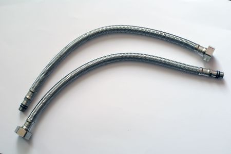 two armored hoses (sanitaryware item) photo