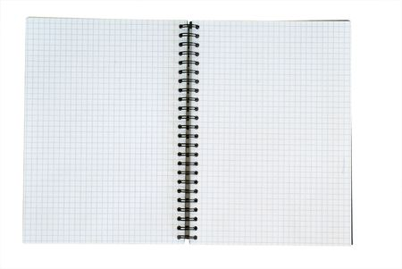 broadside: The broadside of blank copybook isolated on white Stock Photo