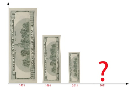 decline: The chart illustrated the decline of dollar