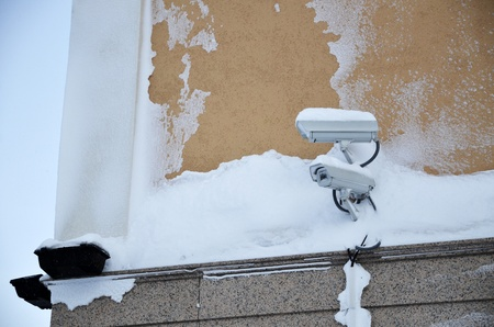 Surveillance cameras covered by snow Stock Photo - 12583565