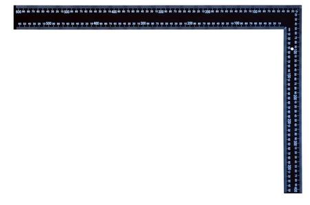 millimetre: Carpenter setsquare Stock Photo