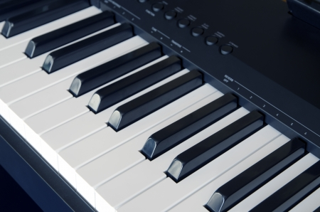 Electric piano close up photo