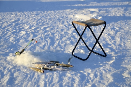 Ice fishing photo