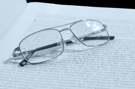 The book and the glasses