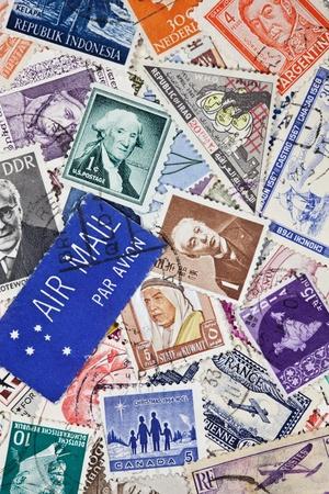 timbre postal: Sellos postales vintage de todo el mundo