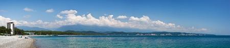abkhazia: Famous tourist resort on Black sea in Pitsunda, Abkhazia Stock Photo