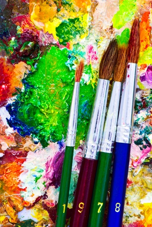 Paintbrushes with date 1978 photo