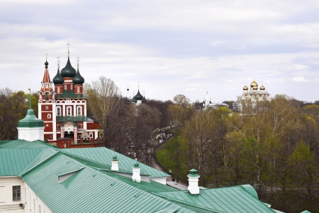 Archangel Michael Church in Yaroslavl, famous russian city of Golden Ring photo