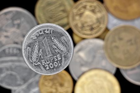 One rupee coin photo
