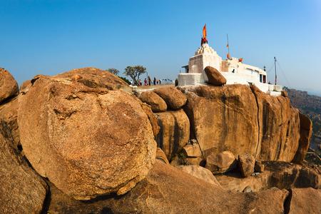 karnataka culture: Hanuman Temple in Hampi, Karnataka, India