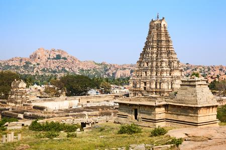 karnataka culture: Temple of Virupaksha. Hampi, Karnataka