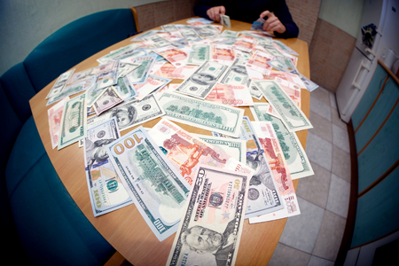 counting money: Scene of counting money