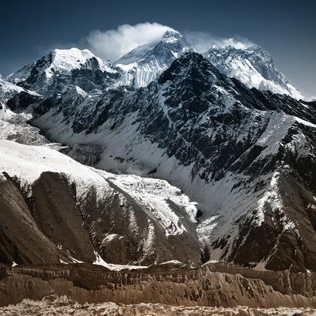 mount everest: View from Gokyo Ri 5,360m., Solukhumbu District Sagarmatha National Park, Nepal