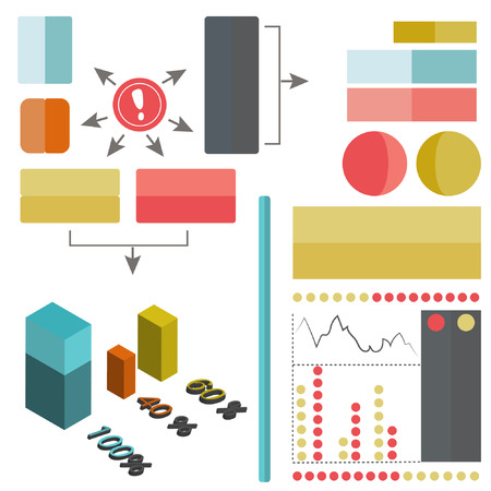 Vector infographic elements Ilustrace