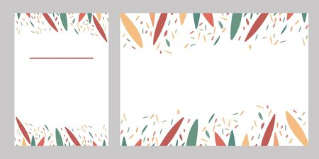 Template text paper with colourful leaves for your design. Suitable for wedding invitation, menu, certificate, congratulation, cover