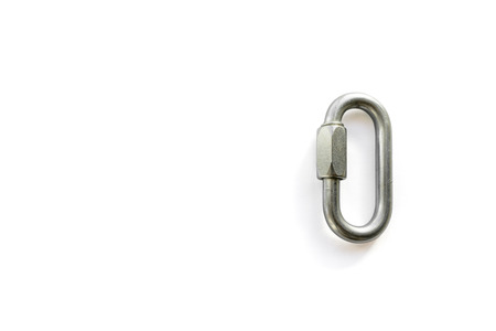 Closed 8mm steel maillon (quick link) mountaineering gear used in sport, multi-pitch, and trad climbing.