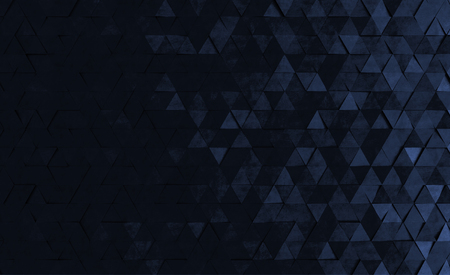 Geometric style background with triangles. 3d rendering.
