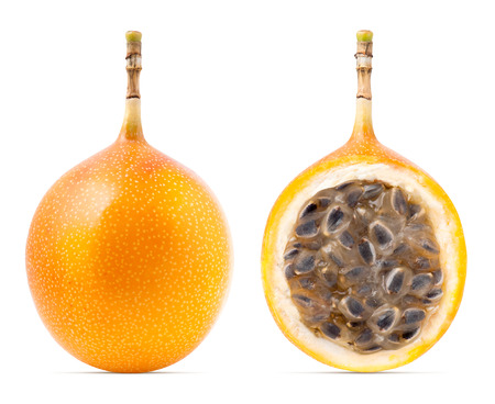 Granadilla or grenadia passion fruit isolated 免版税图像