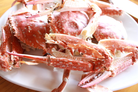 steamed: Seafood : Steamed crabs