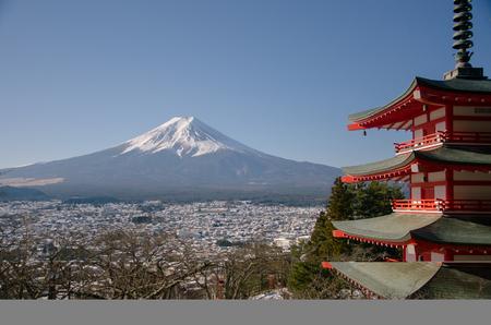 chureito: Japan Lanscape, Chureito Pagoda and Mountain Fuji