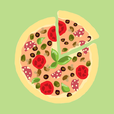 appetizing: Illustration. Appetizing pizza.