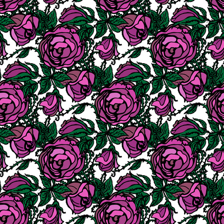 peonies: Floral illustration. Background with peonies. Seamless pattern. Illustration