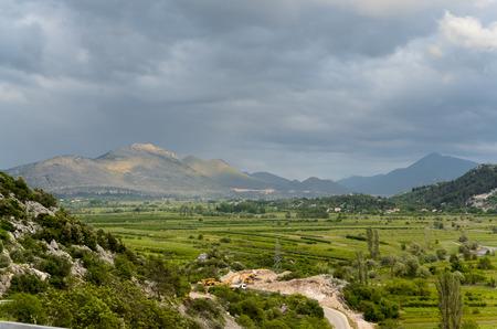Croatian mountain and fields