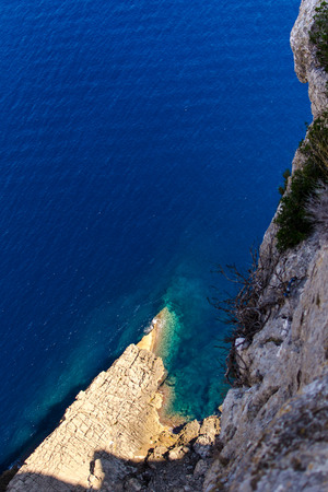 sharp cliff at the sea of Mallorca photo