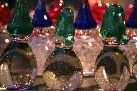 gnomos: vidrio gnomos  Foto de archivo