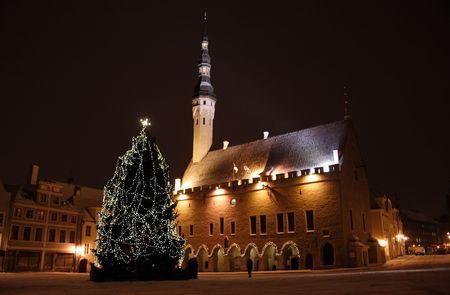 Tallinn night Imagens