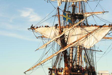 blue vessels: Sails Stock Photo