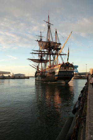 capitan de barco: barco  Foto de archivo