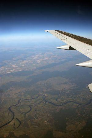 De vol de l'avion Banque d'images