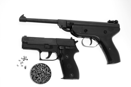 air soft gun isolated on white background Stock Photo - 4349853