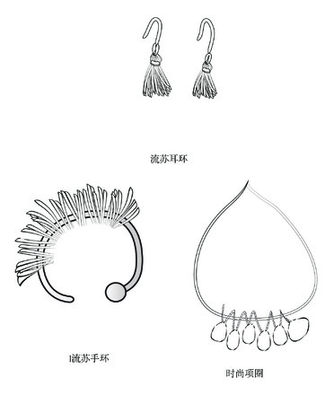 su: Su collars, ear loop design bracelet fashion jewelry