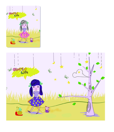 product design: Princess cartoon product design , vector cartoon illustration