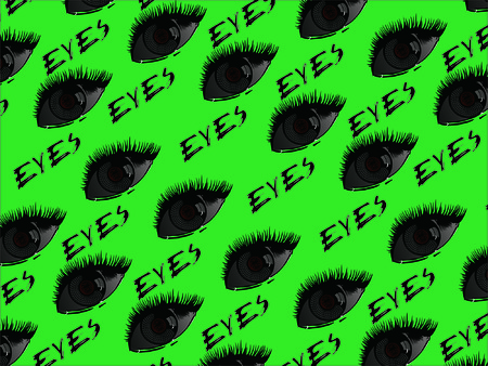 package printing: The eye background retro seamless printing garment printing at the end of the abstract Illustration