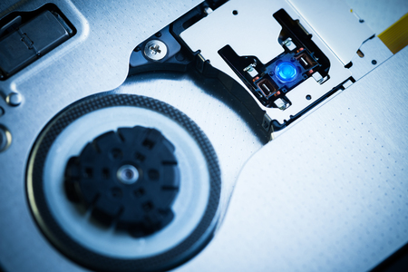 Close Up -  Optical drive laser head lens Stock Photo