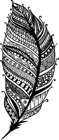 lightweight ornaments: hand-drawn doodle feather