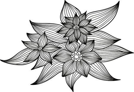 champa flower: Abstract floral background. Vector flower. Element for design.