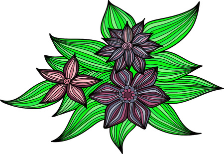 tropical tree: Abstract floral background. Vector flower . Element for design. Illustration