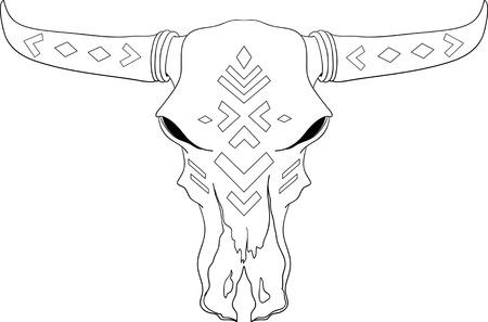 Buffalo Skull Native American Totem