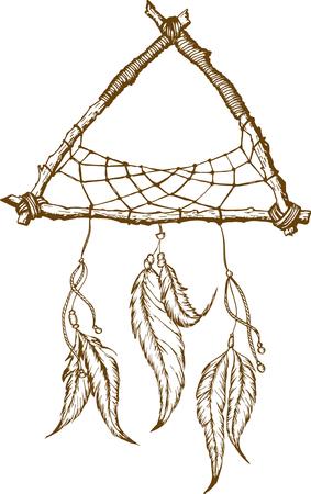 Dreamcatcher Con La Flecha, Las Plumas Y La Serpiente. Talismán ...