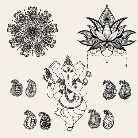 shree: Sitting Lord Ganesha, vector illustration
