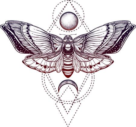 Schwarz-Weiß-Deadhead-Schmetterling