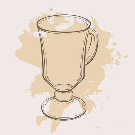 Glass cup for mulled wine Illustration